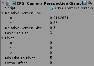 Camera Perspective Gizmo Inspector