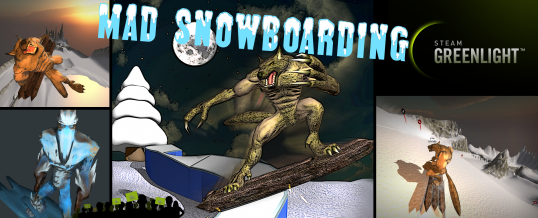 Mad Snowboarding on Steam Greenlight